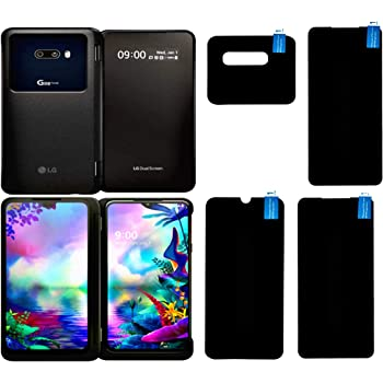 Doubledicestore Screen Protector Flexible Screen Guard for LG G8X ThinQ Anti Shock Armor Covers All Three Screens & Camera Front & Back All Side Protection