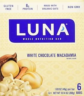 Luna BAR - Gluten Free Snack Bars - White Chocolate Macadamia Flavor - (1.69 Ounce Snack Bar, 6 Count)