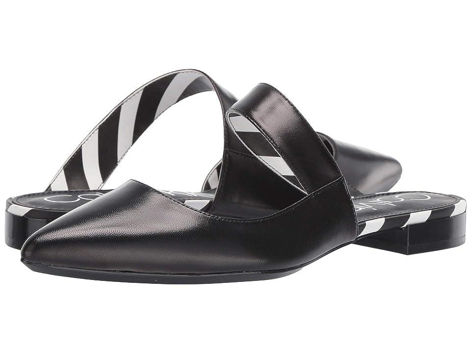 Calvin Klein Arelys (Black Leather/Stripes) Women