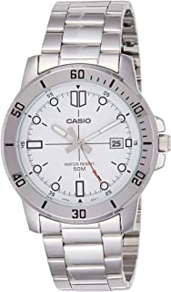 Casio MTP-VD01D-7EV Men's Enticer Stainless Steel White Dial Casual Analog Sporty Watch