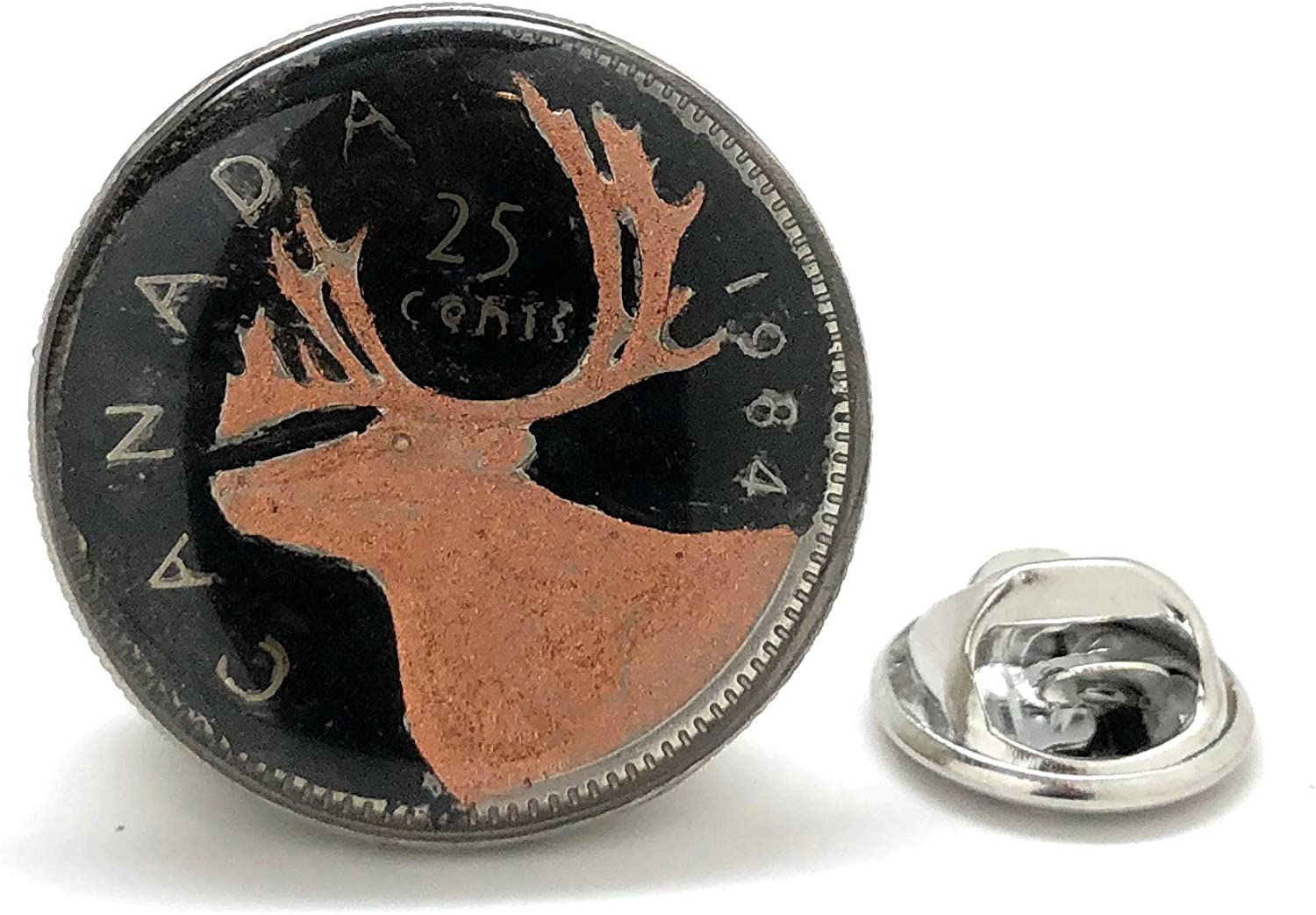 Hand Painted Canada 5% OFF Lapel Pin Quarter Tie Tack Max 81% OFF