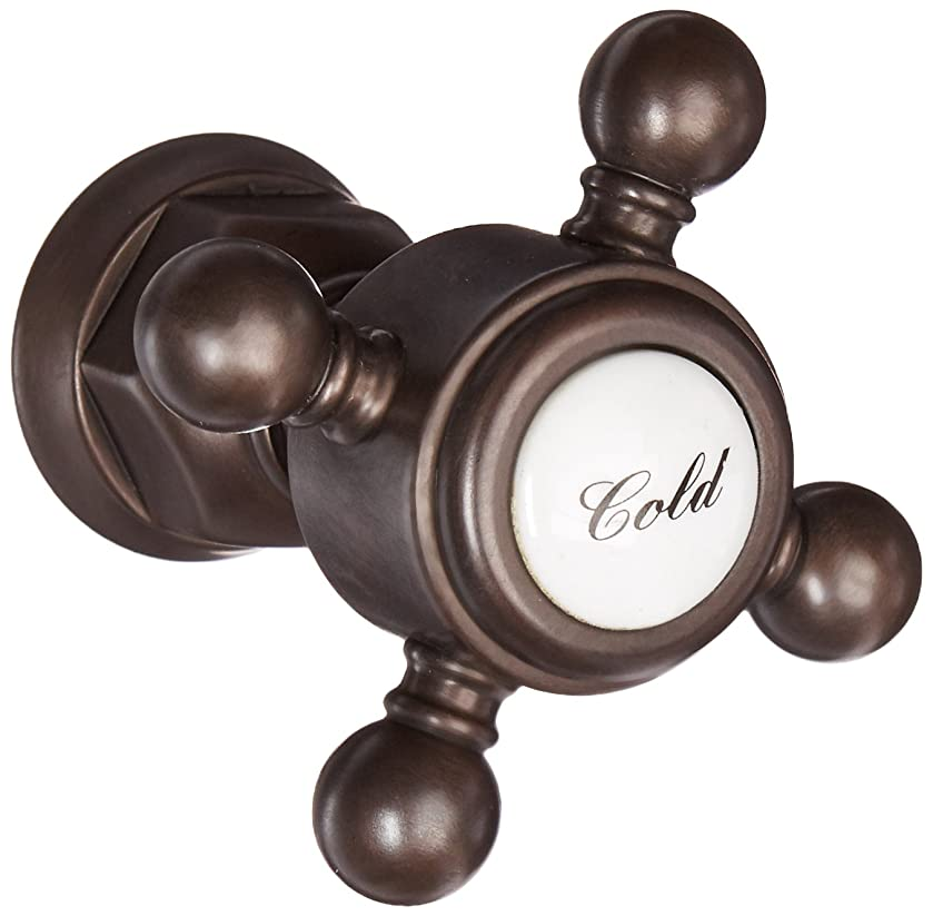 Rohl C7670XMTCB Country Bath & Country Kitchen Cross Handle Only with Bell Housing Half Dome without Temperature Indicator for Two Handle Faucets, Tuscan Brass