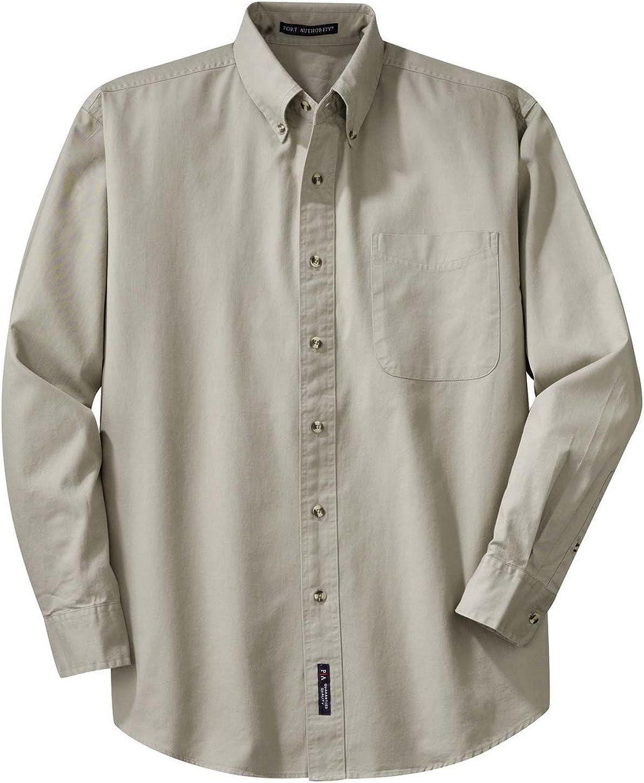 Port Authority Long Sleeve Twill Shirt (S600T) Stone, XL