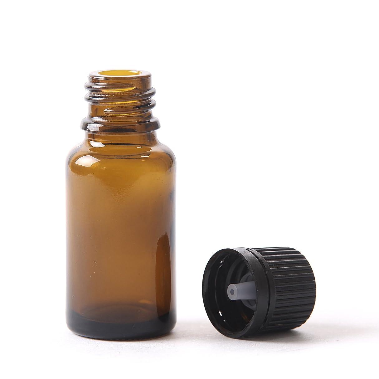 アサートさせる繰り返す(10) - 15ml Amber Glass Boston Round Bottle (With Black Tamper Evident Cap & Dropper) (10)