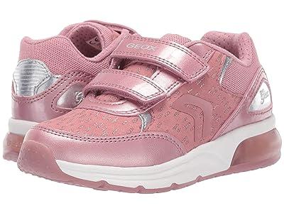 Geox Kids Jr Spaceclub 4 (Little Kid) (Dark Pink) Girls Shoes
