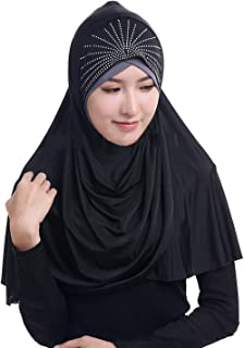 Women Soft One Piece Hijab Long Muslim Turban Islamic Full Head Scarf