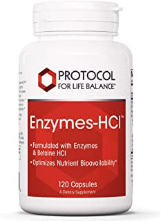 Protocol For Life Balance - Enzymes-HCl - Promotes Digestive Health, Formulated with Enzymes and Betaine HCI to Optimize N...
