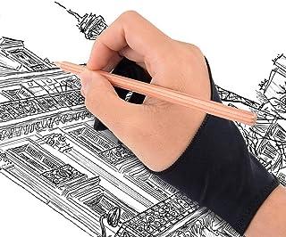 二本指グローブ 二本指 手袋 防汚 通気性 超軽量 快適 2本指 グローブ ライクラ繊維 お絵描き手袋 タブレット 左利き 右利き 便利 通用 フリーサイズ 男女兼用 iPad グローブ 液晶ペン タブレット用 対応