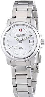 Swiss Military Hanowa - 06-7230.04.001 - Reloj de Pulsera Mujer, Acero Inoxidable, Color Plateado
