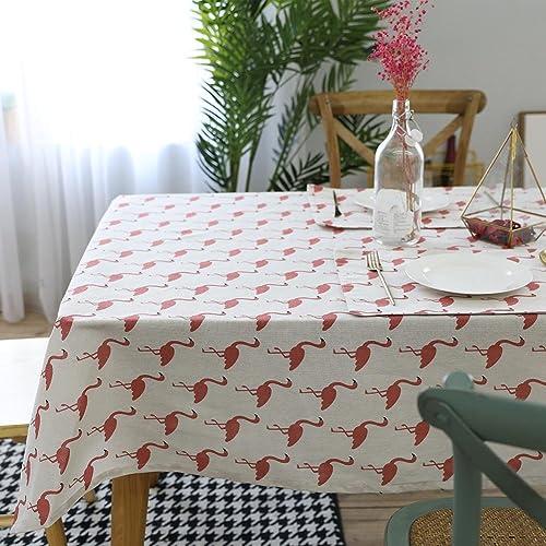 Flamingo Multi-Größe Baumwolle Leinen Tischdecke Dekor Zuhause Hotel Cafe Restaurant LAD-I , 140250cm