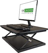 "Uncaged Ergonomics CDMM-b CHANGEdesk MINI Small Adjustable Height Standing Desk Converter, Black, 27.5x19.6"""