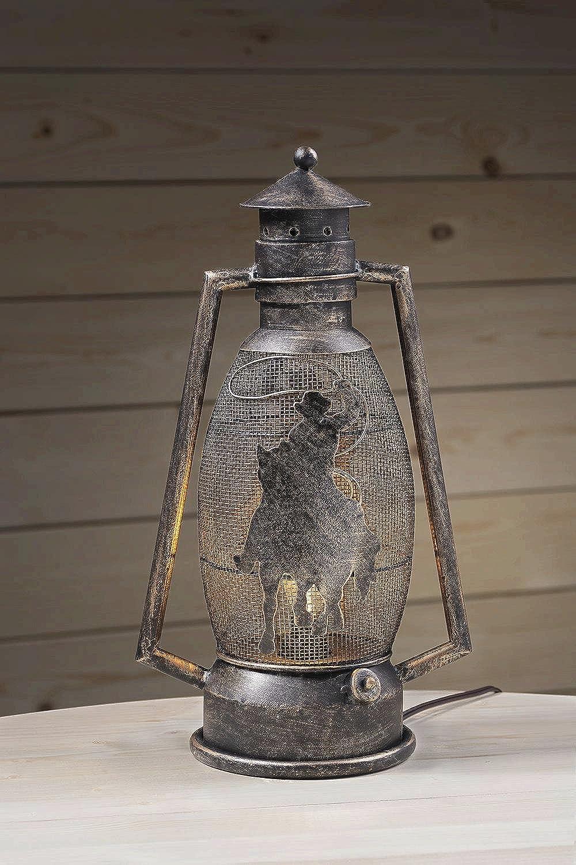 Tough 1 Western Lantern Brushed Metallic Cutout Horse Bronze 87-93762