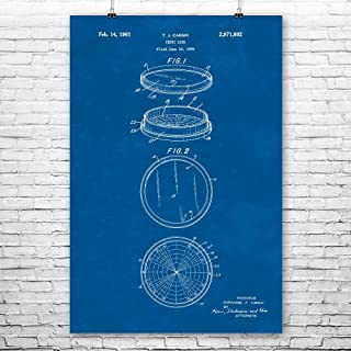 Patent Earth Petri Dish Poster Print, Biologist Gift, Biochemistry Art, Biology Teacher Gift, Science Class Decor, Chemistry Gift Blueprint (18