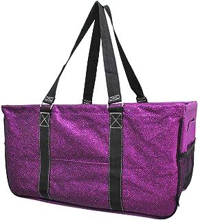 Purple Glitter NGIL Utility Tote Shopping Bag