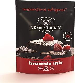 Snacktivist Foods - Gluten-free Double Dark Chocolate Brownie Baking Mix - Vegan, Egg-Free, Dairy-Free, Non-GMO - 12 Ounce