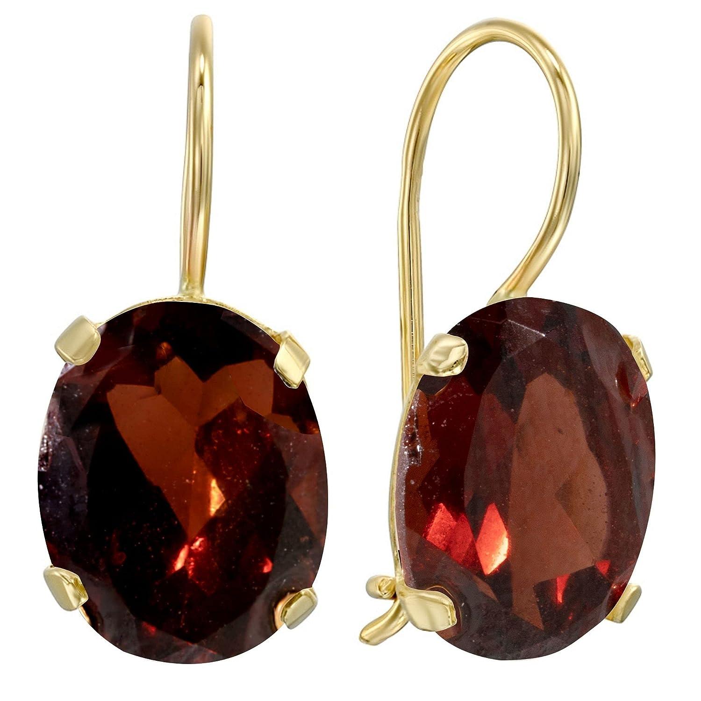 Dainty Garnet Earrings shipfree - favorite 14K Solid Drop Dangle Earri Gold Yellow