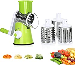 4 Pcs Vegetable Slicer 3 in 1 Handheld Spiral Rotary Drum Slicer for Vegetable Fruit Cheese Nut