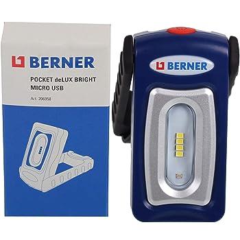 Berner Pocket Delux Bright Premiumline Led Taschenlampe Werkstattlampe Amazon De Baumarkt