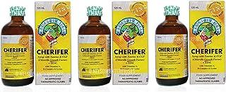 3 CHERIFER Forte Syrup w/Taurine & Double Chlorella Growth Factor + Zinc 120ml