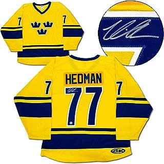 AJ Sports World Victor Hedman Team Sweden Autographed Custom Hockey Jersey