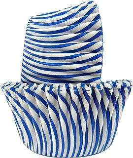 Regency Wraps Greaseproof Baking Cups, Blue Pisa Stripe, 40-Count, Standard.