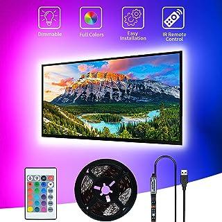 LED TV Hintergrundbeleuchtung, SHOPLED 3M USB steuerbar via Fernbedienung, geeignet für 46-60Zoll Fernseher und PC, USB be...