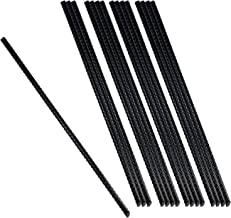 Urbalabs 15 inch Metal Rebar Garden Straight Camping Stakes (16pcs) Heavy Duty Ground Anchors, Steel Tomato Plant Stakes &...