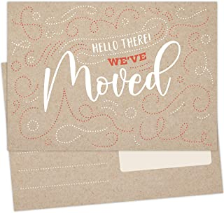 Koko Paper Co We've Moved Announcement Postcards | 50 Fill-in Postcards | Printed on Heavy Card Stock.