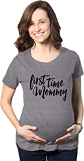 Maternity First Time Mommy Pregnancy Tshirt Cute Belly Bump Tee for Mother to Be