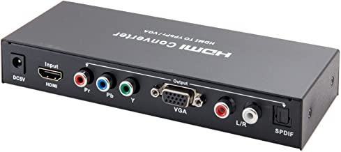 IO Crest SY-ADA31057 HDMI Signal to Component or VGA with Digital SPDIF and Analog Audio Output, Black