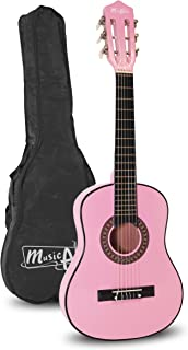 Music Alley 6 String Size 30inch Junior Classical Guitar (Pink) (MA-51