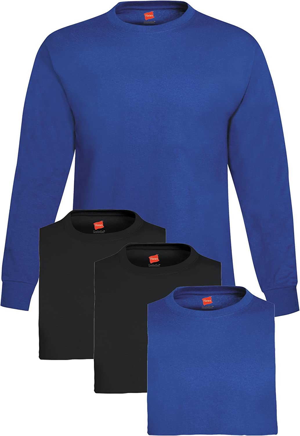 Hanes Men's 4 Pack T-Shirt Long At the price of surprise Albuquerque Mall Sleeve