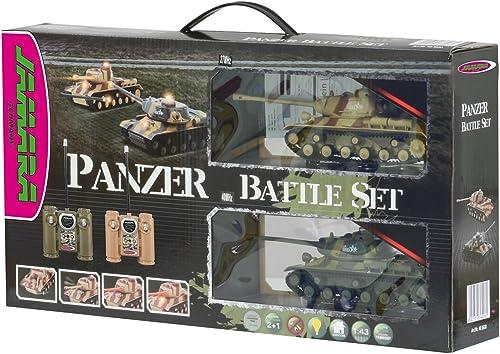 Jamara 403630 - RC Panzer Battle Set inklusive 2 Fernsteuerungen