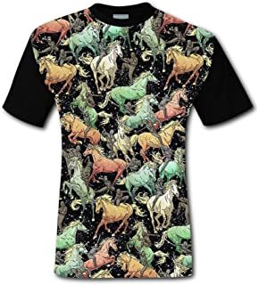 UdlJud Kids Summer 3D T Shirts Persia Flag /& African Lion Short Sleeve Tops Tees
