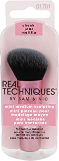Real Techniques Mini Travel Size Sculpting Makeup Brush for contouring (Packaging and Handle Colour May Vary)