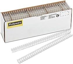 blanc Fellowes ESP010B/ 10/mm /Lot de 100/Reliures spirales m/étalliques