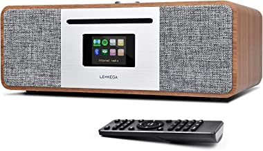 LEMEGA MSY5 All-In-One Music System,CD player,DAB/DAB+/FM Radio,Internet Radio,Spotify Connect,Bluetooth,Wooden box,Stereo...
