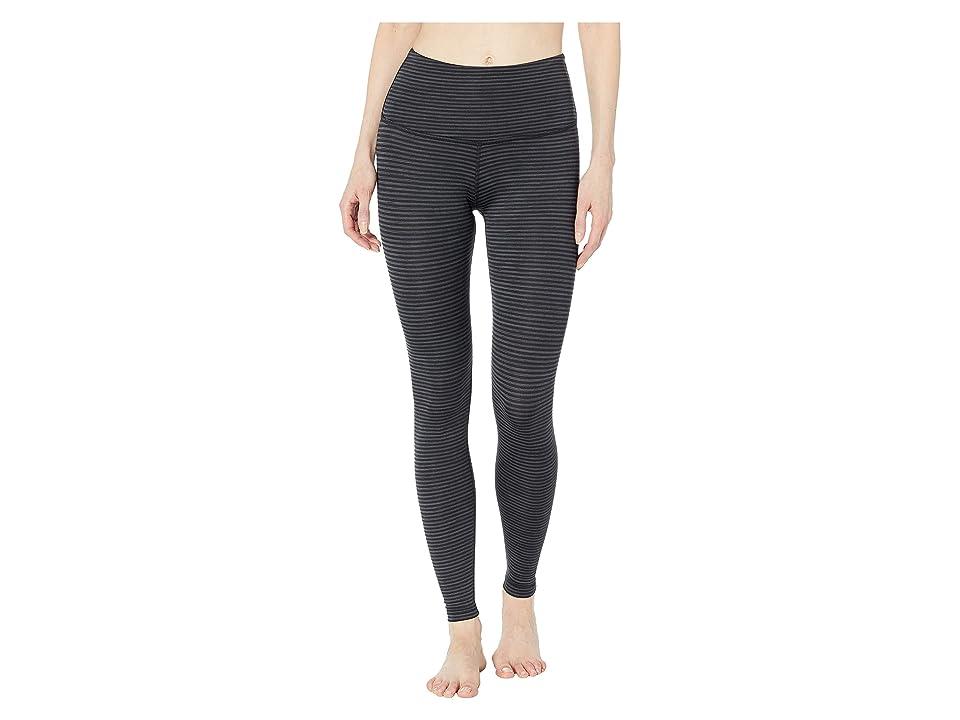 Beyond Yoga True To Stripe High-Waisted Long Leggings (Black Heather Surf Stripe) Women