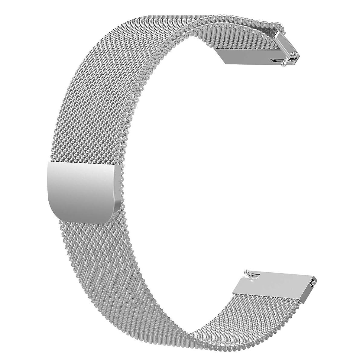 沿って中性セグメントTopACE Huawei Watch GT 時計バンド ステンレス製 交換ベルト 時計ベルト(ホワイト)