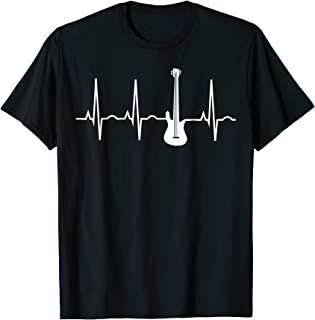 Bass Player Shirt - Bass Guitar Player Heartbeat T-Shirt