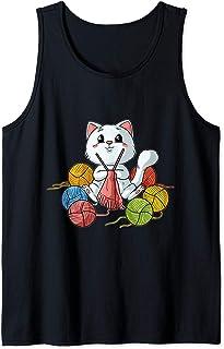 Chat à tricoter drôle de chat en tricot Stich Débardeur