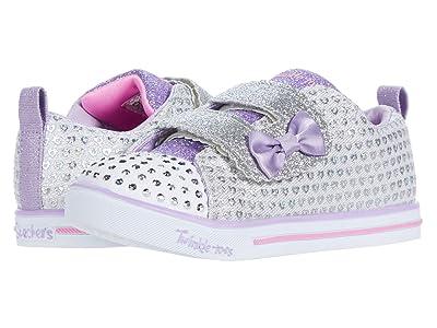 SKECHERS KIDS Twinkle Toes Sparkle Lite 314914N (Toddler/Little Kid) (Silver) Girl