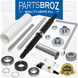 W10435302 & W10447783 Bearing and Tub Seal Kit + Bearing Installation Tool by PartsBroz - Compatible with Whirlpool Washer...