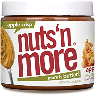 Nuts 'N More Apple Crisp Peanut Butter Spread, All Natural High Protein Nut Butter Healthy Snack, Omega 3's and Antioxidan...