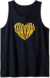 Awesome Animal Tiger Print Heart Tank Top