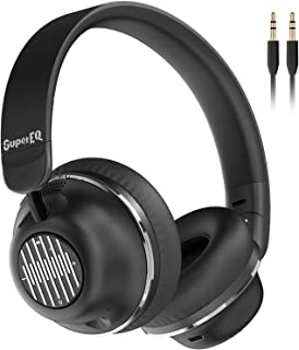 Active Noise Cancelling Headphones-SuperEQ S2 Bluetooth On Ear Headphones with CVC 8.0 Mic, Deep Bass, 25H Playtime, 40mm ...