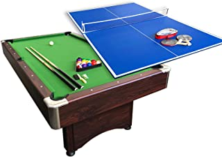 Buen Regalo para Las Fiestas Juegos Entre Familia hj HLC/® Mesa Multijuegos Plegable 4 en 1 Mesa de Billar,Ping Pong,Hockey y Futbol/ín 109 x 60,5 x 82 cm