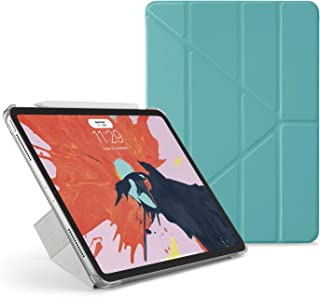 "Pipetto Origami iPad Case Pro 11"" (2018) with 5 in 1 Stand in Vegan Leather & auto Sleep/Wake Function Turquoise Lambskin/..."