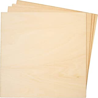 Bright Creations 8-Pack Basswood Plywood Thin Sheets for Wood Burning, Laser Cutting, 1/8 x 6 Inches