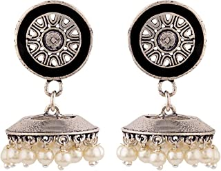 Voylla Jhumki Earrings for Women (Silver)(8907617887852)